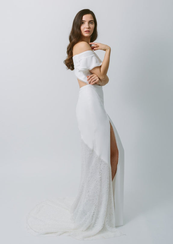 Lavictoire Indigo wedding dress side