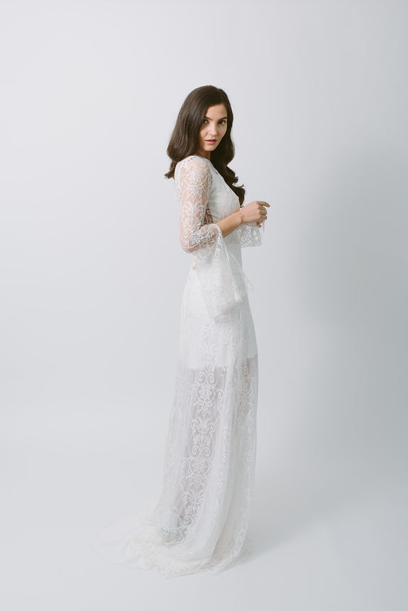 Lavictoire Texada wedding dress side