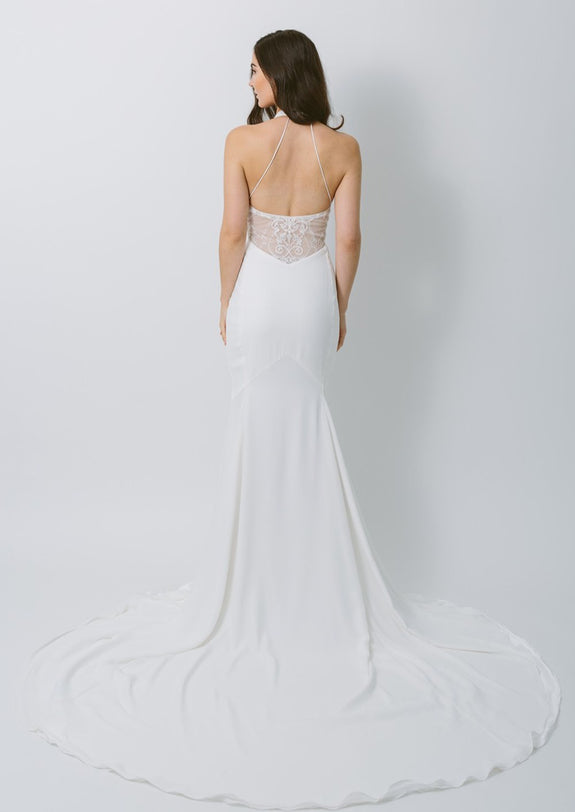 Lavictoire Topaz wedding dress back
