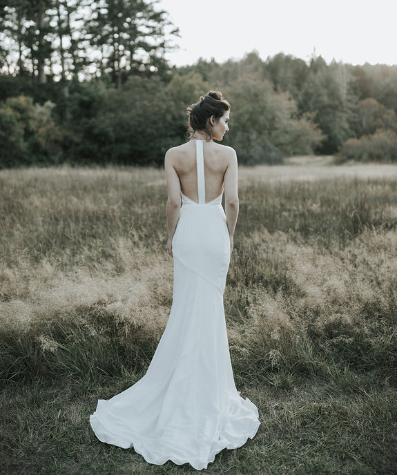 Lavictoire Solstice wedding dress back editorial