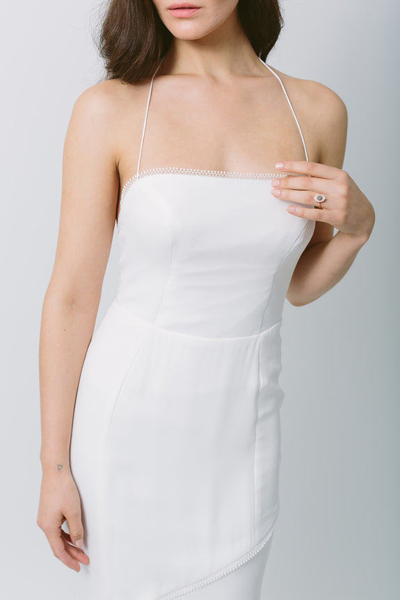 Lavictoire Solstice wedding dress front detail