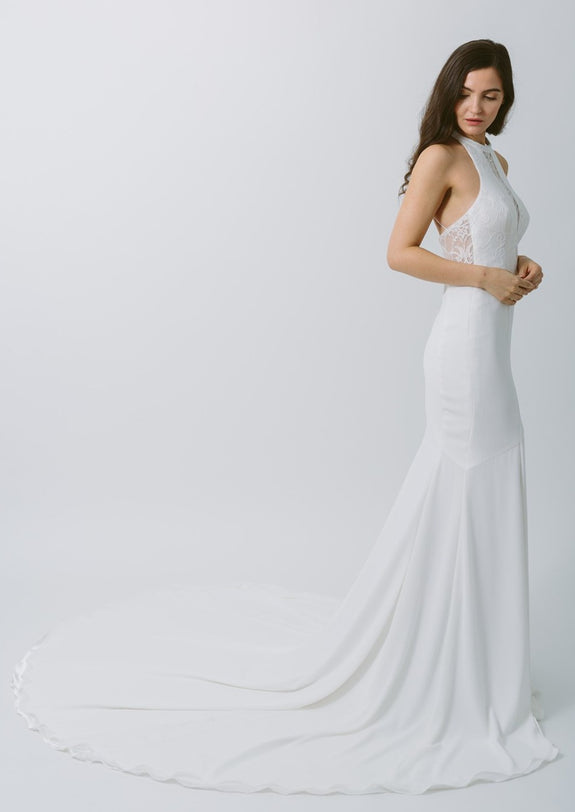 Lavictoire Topaz wedding dress side