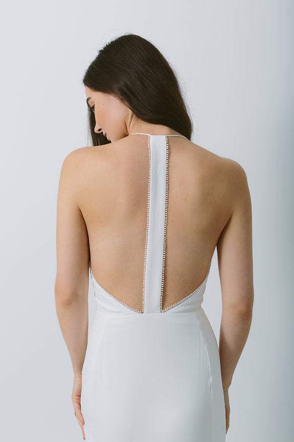 Lavictoire Solstice wedding dress back detail
