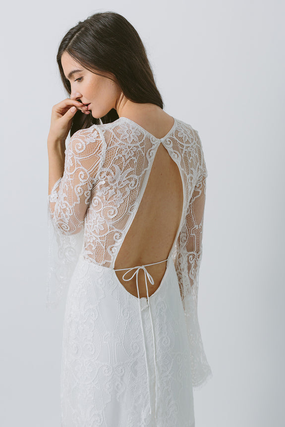 Lavictoire Texada wedding dress back detail