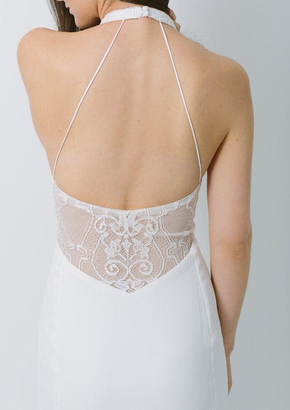 Lavictoire Topaz wedding dress back detail