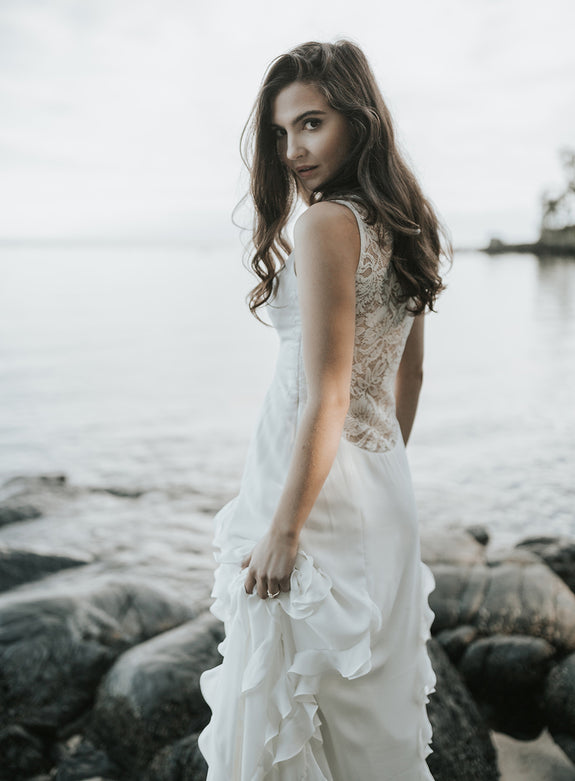 Lavictoire Astral wedding dress back editorial