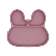 Bunny Sticky Plate - Dusty Rose