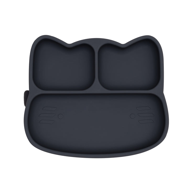 Cat Sticky Plate - Charcoal