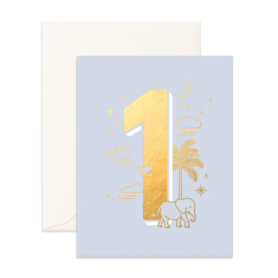 1st Birthday Card - Animals