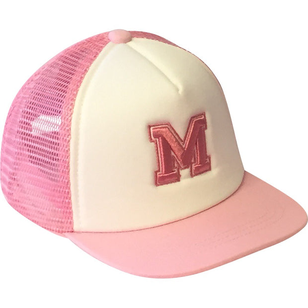 Pink Alphabet Trucker Hats