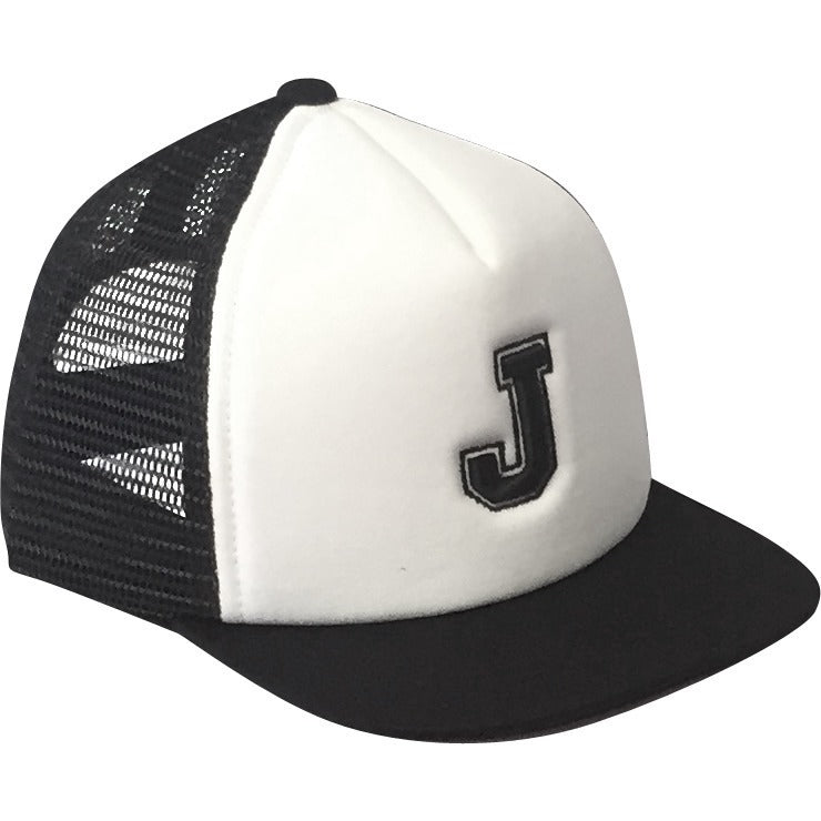 Black Alphabet Trucker Hat
