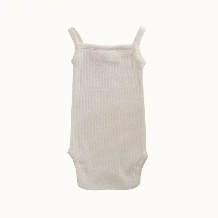 Pointelle Camisole Bodysuit - Natural