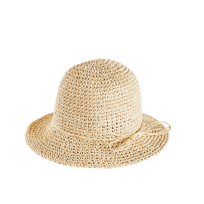 Poet Crochet Straw Hat
