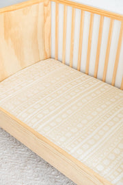 Sand Fitted Cot Sheet