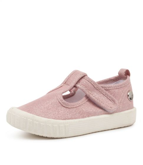 Classic Windsor Canvas Shoes - Metallic Blush