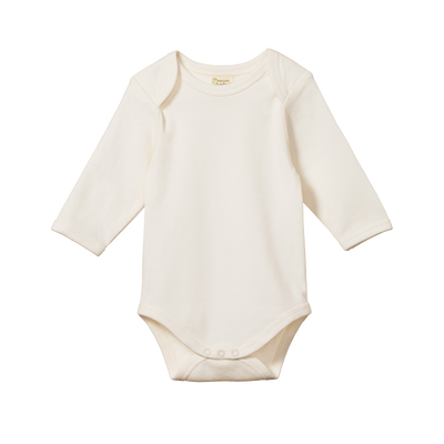 Long Sleeve Bodysuit - Natural