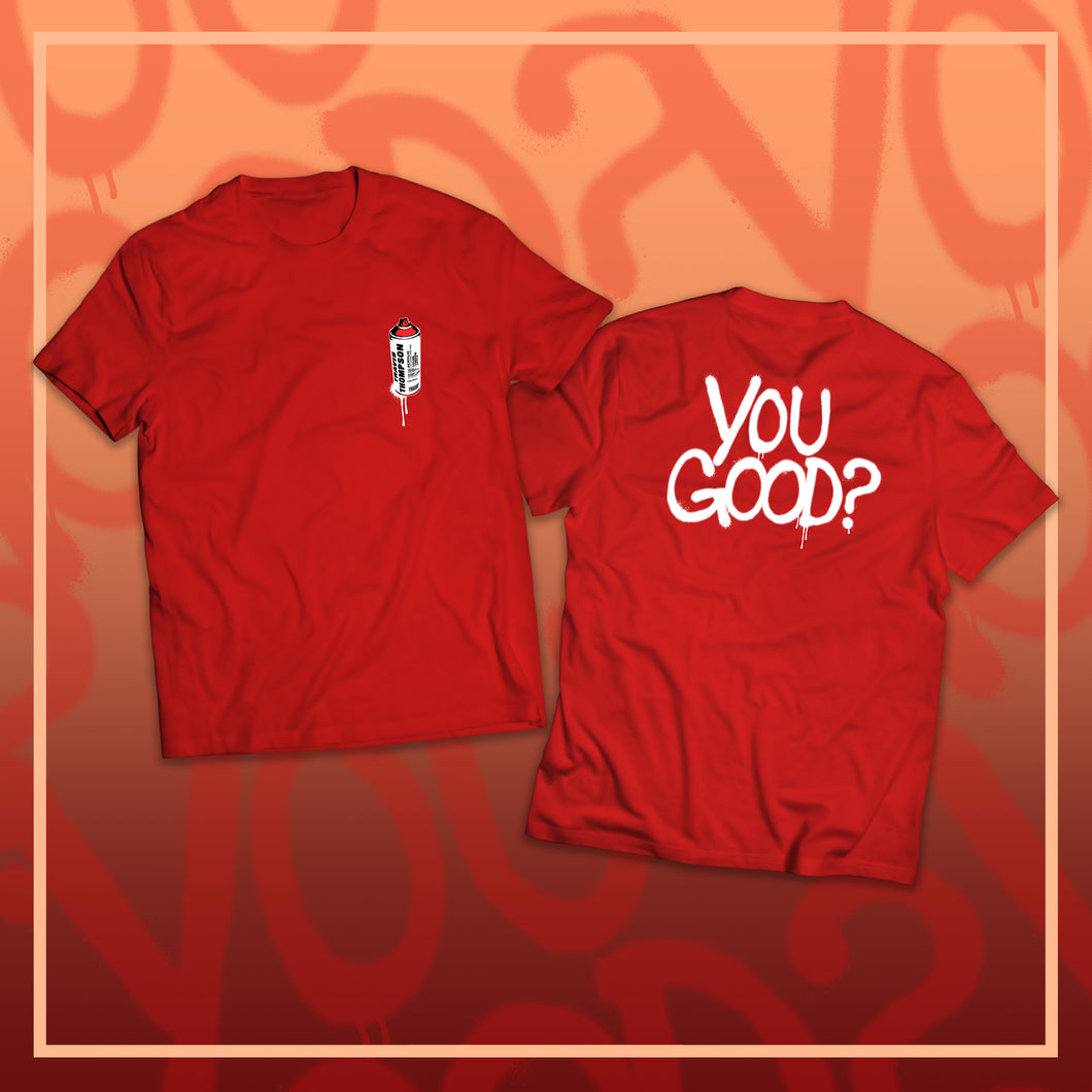 YOUGOOD? Spray Paint T-shirt (Red)
