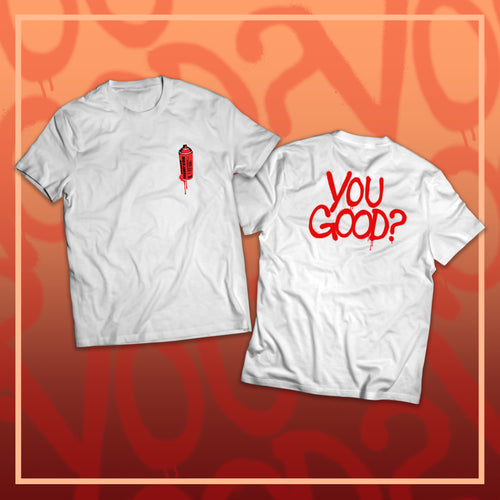 White YOUGOOD? Spray Paint T-shirt