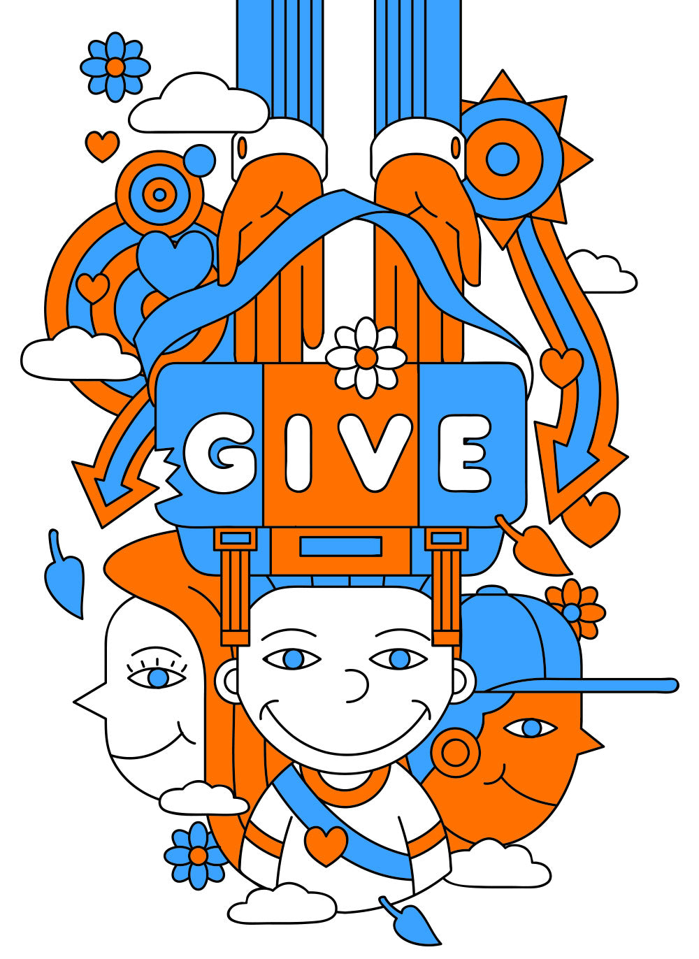 Give. Donated bags go to a second user through our network of charity partners.