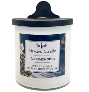 Cinnamon Stick Automatic Candle. Our Smart Candle Self-Extinguishes after predetermined time - giving you the ultimate peace of mind!