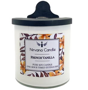 French Vanilla Automatic Candle. Our Smart Candle Self-Extinguishes after predetermined time - giving you the ultimate peace of mind!