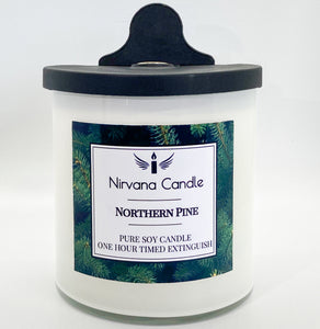 Pine Automatic Candle. Our Smart Candle Self-Extinguishes after predetermined time - giving you the ultimate peace of mind!