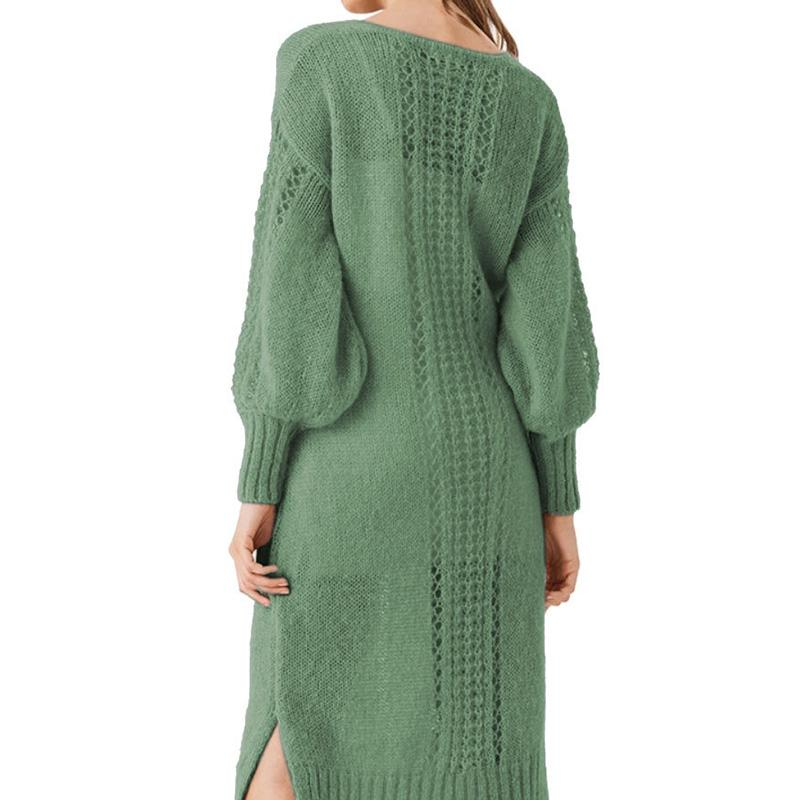 Sexy Cutout Solid Color Sweater Dress