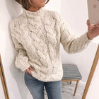 Sweet Loose Long Sleeve Knitted Sweater