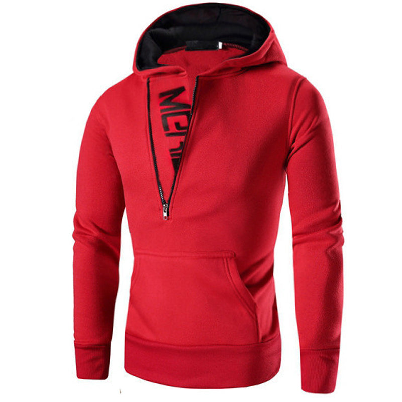 Manoswe Zipper Hooded Pullover for Men Long Sleeve Solid Sweatshirts Coat Casual Hoodies Male Slim Oversized Clothes 4XL