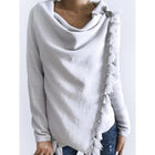 Solid Color Crew Neck Casual Sweaters