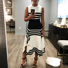 Sleeveless Summer Women's Striped Dress
