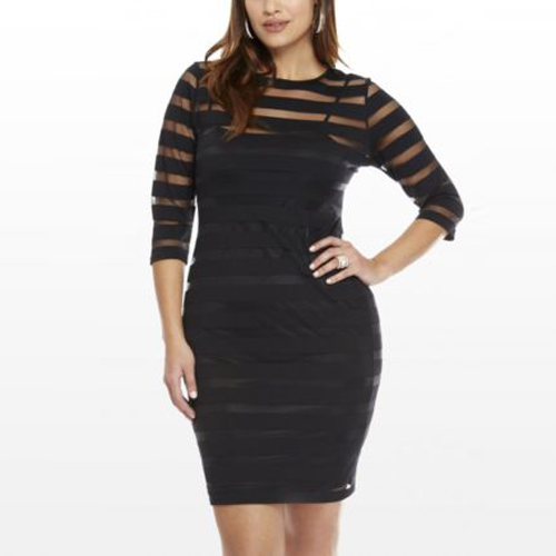 Plus Size Sexy Clubwear Bodycon Party Evening Knee-Length Dress