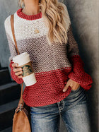 Autumn and Winter New Fashion Bold Color Matching Sweater Clothes