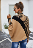 Twill Sweater Turtleneck Long Sleeved Knit Jacket Top