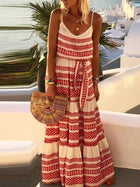 Beach Printed Spaghetti-Neck Maxi Dress