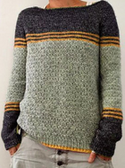 New Round Neck Long Sleeve Knitted Sweater Multi-color Slim Sweater