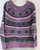 New Loose Vintage Jacquard Ethnic Style Pullover Sweater