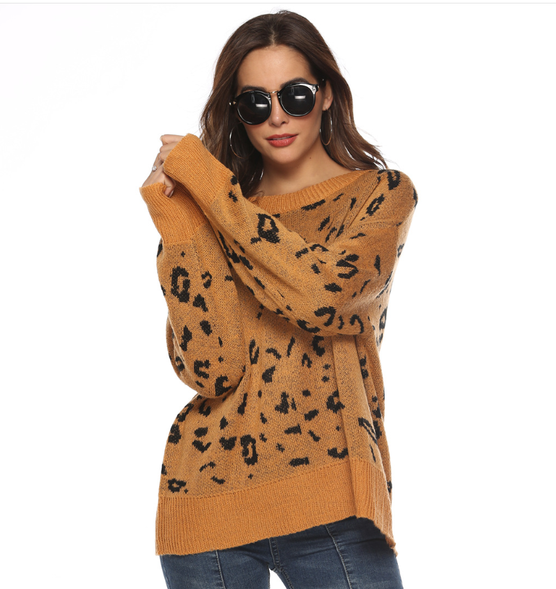 New Fashion Leopard Knit Sweater