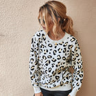 New Women's Top Fashion Leopard Sweater