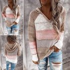 European and American Sweaters Autumn and Winter New Loose-striped Long-sleeved Ladies