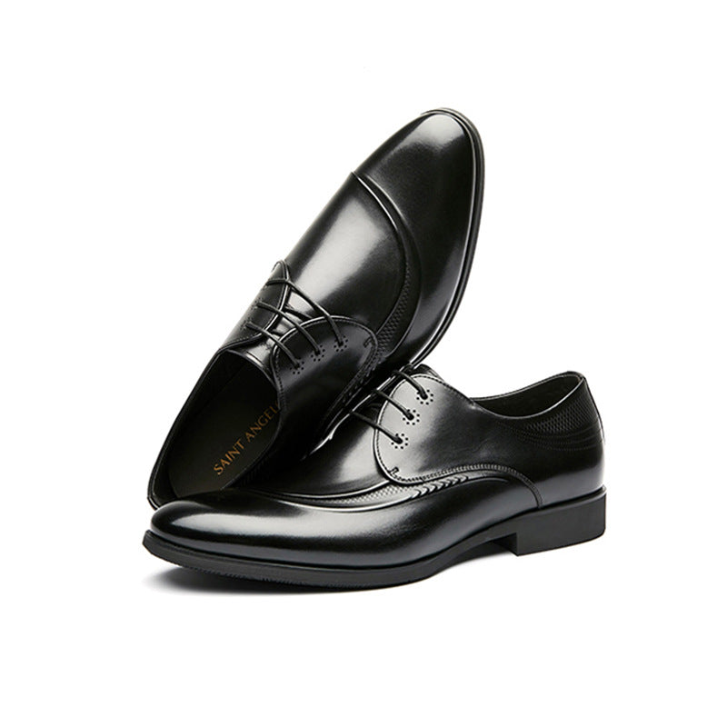 Leather Shoes Business Dress Breathable Pointed Oxford Shoes Men's Shoes