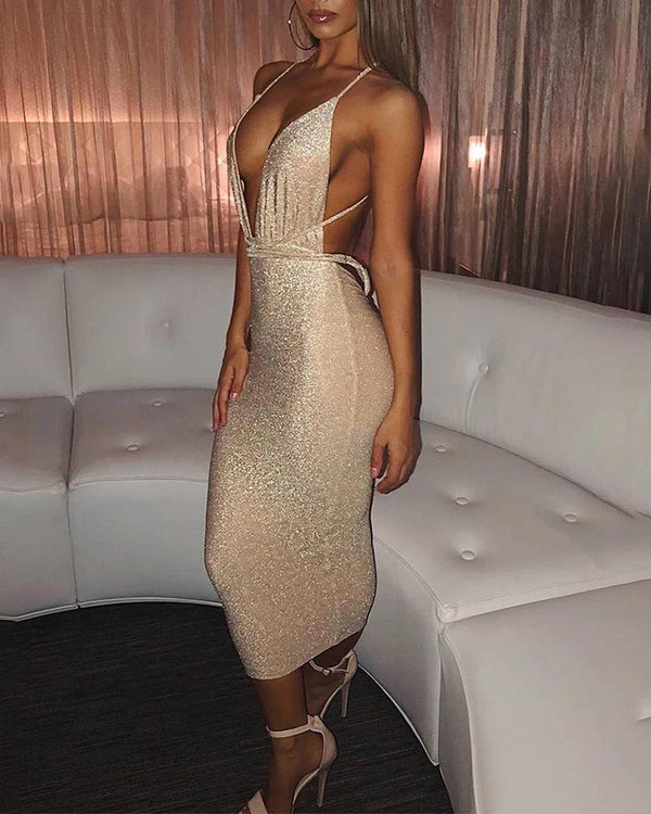 Sexy Backless Strap Dress