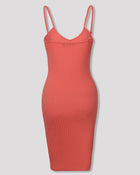 Spaghetti Strap V-Neck Bodycon Dress