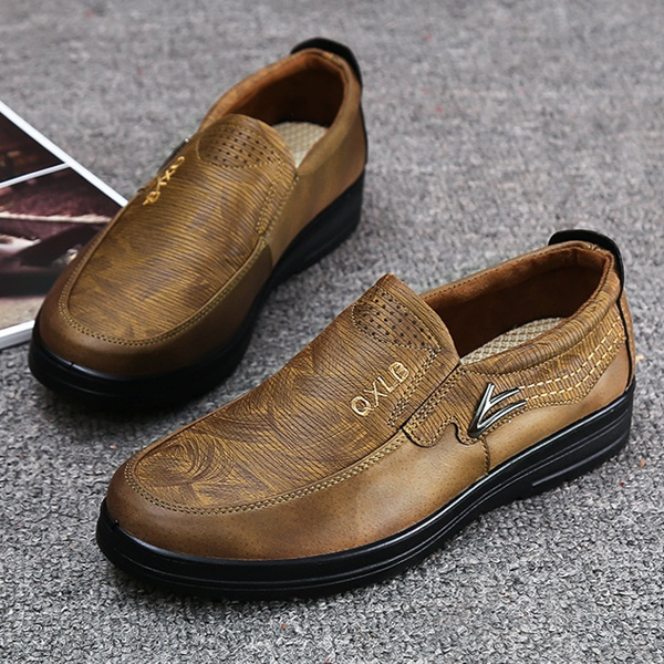 Men Large Size PU Leather Flats Oxford Shoes