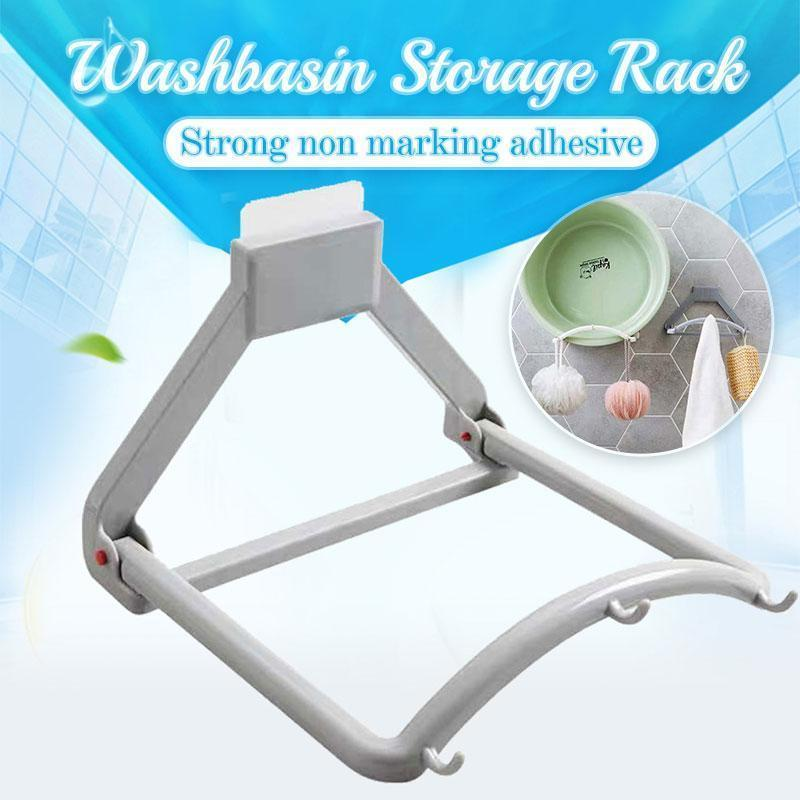 Automatic Rebound Washbasin Storage Rack