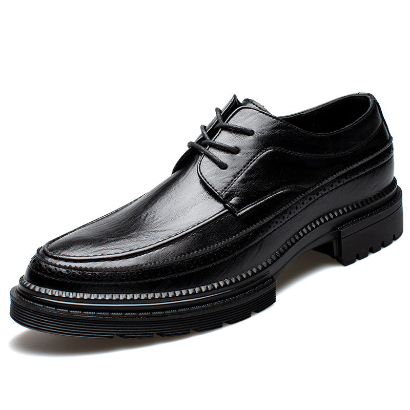 Casual Business British Wind Oxford Breathable Leather Men's Shoes