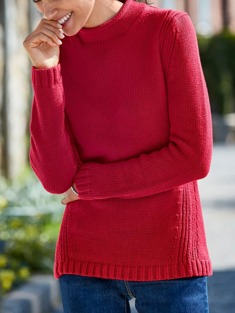 Knitted Casual Shift Sweater