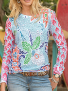 Printed Cotton-Blend Casual Shirts & Tops