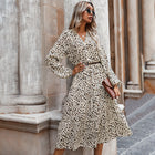 Leopard Print Dress of  Women's Clothing