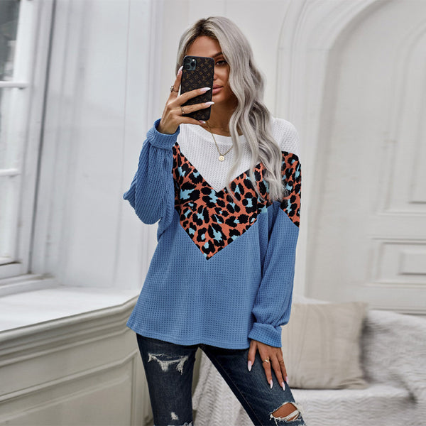Autumn New Knitted Long-sleeved Sweater Women's Loose Thin Round Neck Top